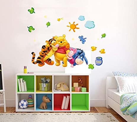 Amazon.com: Art Fashioner Winnie the pooh kids room wall decor ...