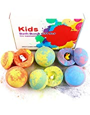 (Christmas gift) Bath Bombs for Kids with Toys Inside for Girls Boys - 6 Surprise Gift Set, Bubble Bath Fizzies Vegan Essential Oil Spa Fizz Balls Christmas Gift Kit