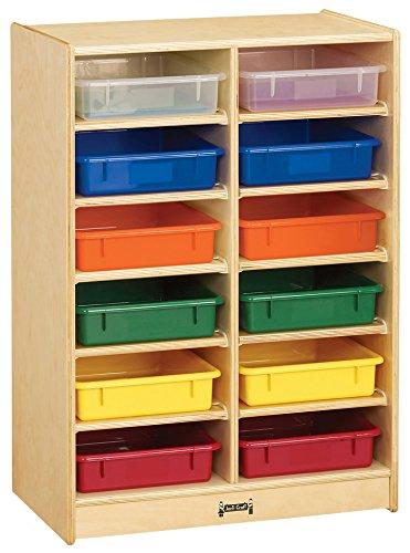 Jonti-Craft 0613JC 12 Paper-Tray Mobile Storage with Colored (Jonti Craft Blue Kitchen)