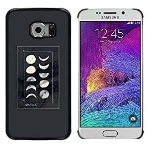 LECELL--Funda protectora / Cubierta / Piel For Samsung Galaxy S6 EDGE SM-G925 -- Cycle Night Science Space Planets --