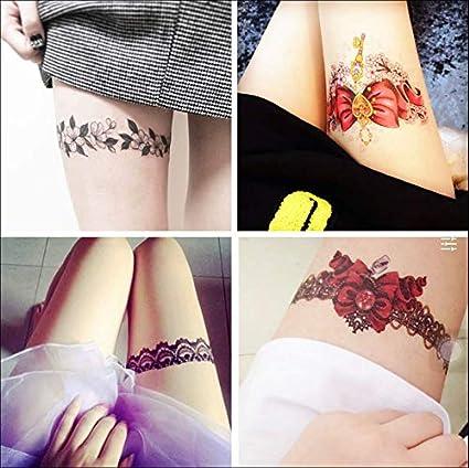 ruofengpuzi Etiqueta engomada del tatuaje Encaje Flor Brazo ...