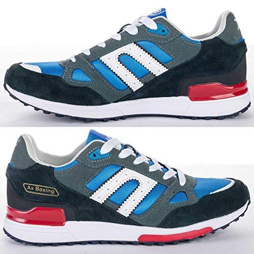 Axe Femmes Sport De Multisport Hommes Boxing Chaussure blue Baskets Course Chaussures A8333 Pied raEaq