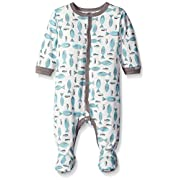 Coccoli Baby Footie, Blue Fish, 1 Months