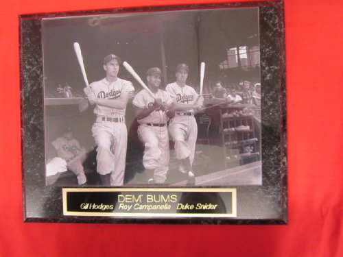 Gil Hodges Roy Campanella Duke Snider Brooklyn Dodgers Collector Plaque #1 w/8x10 Photo ()