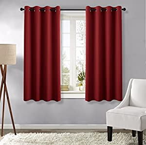 Burgundy Blackout Curtains And Draperies Panels
