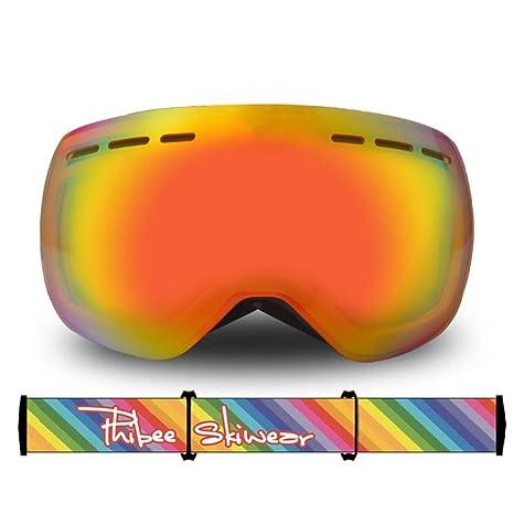 Adultos Gafas de Esquí Doble capa Gafas de esquí Protección ...