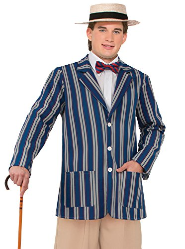 Forum Novelties Men's Roaring 20's Boater Jacket, Multi, (20 Themed Costumes)