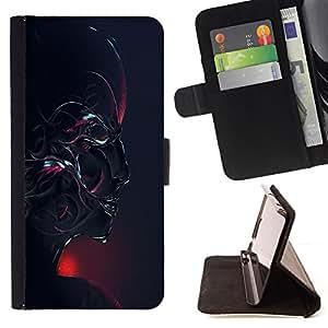 Jordan Colourful Shop - Abstract Robot Face For Sony Xperia Z1 Compact D5503 - < Leather Case Absorci????n cubierta de la caja de alto impacto > -