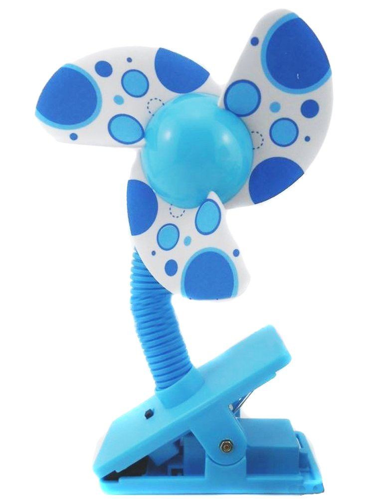 Eforstore Baby Clip-on Mini Stroller Fan Cute Crib Cooling Fans (Blue New Style) by Eforstore