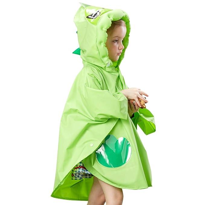 Unisex Kids Child Waterproof Raincoat Hooded Rainwear EVA Cover Cape Jacket Gift