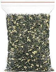 Dianmai 150g / 5.3oz Bi Tan Piao Xue Jasmine Green Tea Loose Leaf - Chinese Mao Feng Green Tea with Jasmine Flowers - Yuqian 2nd Grade - Brew Hot or Iced Tea