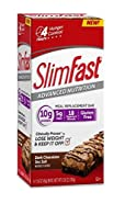Slimfast Advanced Nutrition Meal Replacement Bars Dark Chocolate Sea Salt 12 Bars