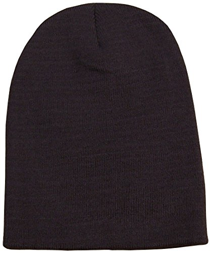 N'Ice Caps Adults Unisex Bulky Double Layered Knitted Beanie Hat (One Size, Brown)