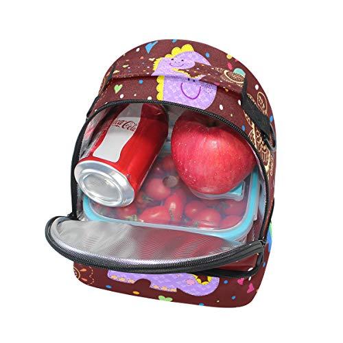 el Alinlo pincnic la escuela de con aislante Bolsa de de ajustable hombro correa para para almuerzo dinosaurio diseño con qrwq7CpfxU