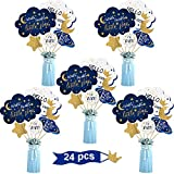 24 Pieces Twinkle Twinkle Little Star Centerpiece Sticks for Star Party Table Toppers Birthday Party Decoration Baby Shower Birthday Party Supplies