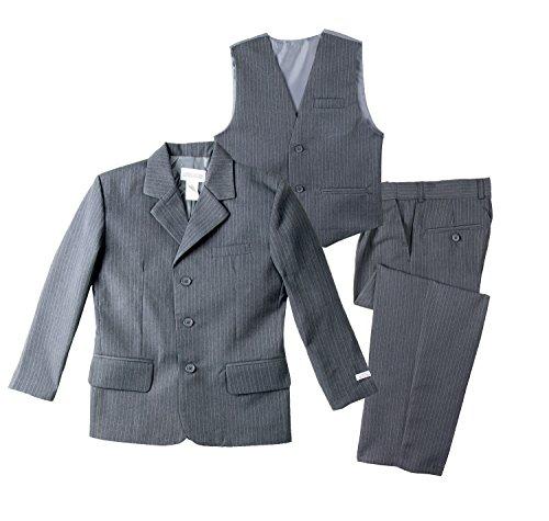 Spring Notion Big Boys' Pinstripe Suit Set Grey/Light Blue 12 by Spring Notion (Image #3)