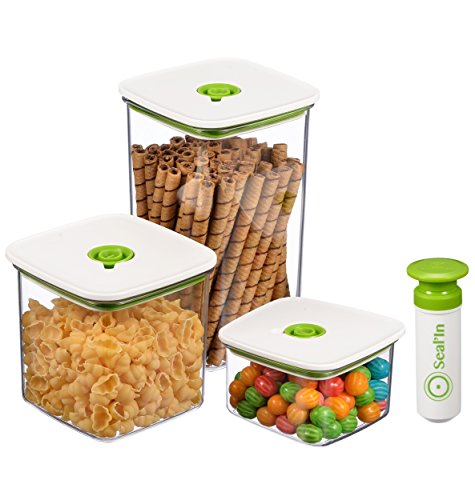 (Seal'In Food Storage Vacuum Containers with