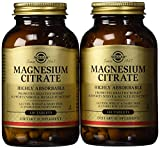 Solgar - Magnesium Citrate, 120 Tablets, Supports Nerve and Muscle Function - 2 Pack