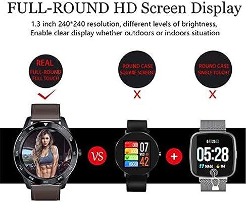 Smartwatch Fitness Tracker DT98 Pulsera Redonda de 1,3