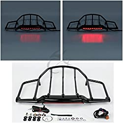 XFMT Air Wing Tour Pak Trunk Luggage Rack With LED Light Compatible with Harley Electra Street Glide 1993-2013