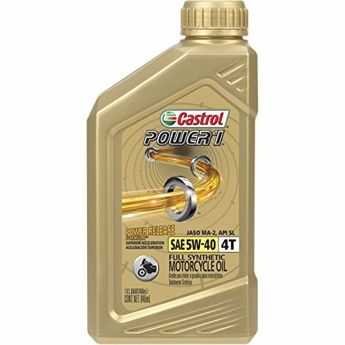 Castrol Power 1 Racing 4T Motorcycle Oil - 5W40 - 1qt. 06113