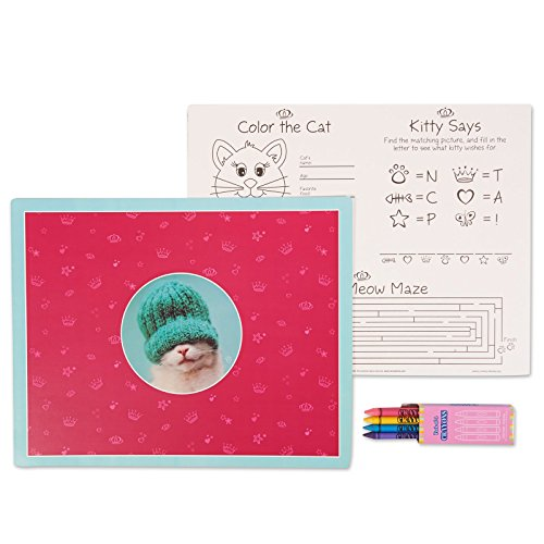 [Rachael Hale Glamour Cats Party Supplies - Activity Placemat Kits (4)] (Hello Kitty Pinata Kit)