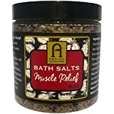 Bath Salts Muscle Relief ORGANIC FRENCH Sea Salt with Essential Oils. For Sore Muscles Joints Aches and Pain. Relaxation Rest Recovery Pamper Yourself. Natural Detox Soak. Relax Recharge. Lavender