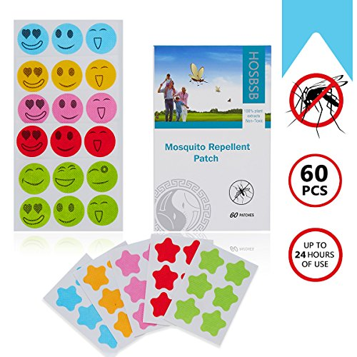 Mosquito Repellent Patches,Hohosb 60 Counts Deet Free Summer Insect Patches...