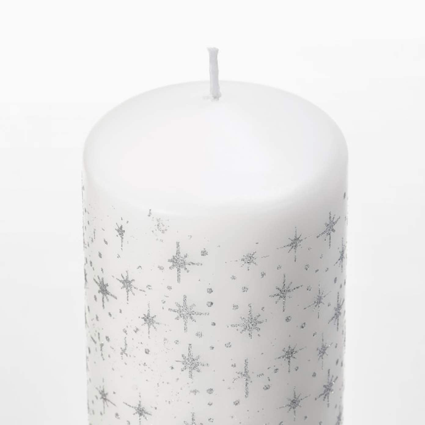 IKEA Vinterfest Unscented Block Candle Set of 5 Star White 504.320.68
