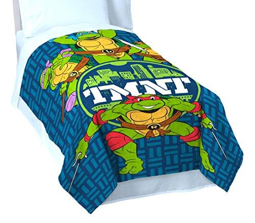 Nickelodeon Teenage Mutant Ninja Turtles 'Cityscape' Twin Blanket, 62