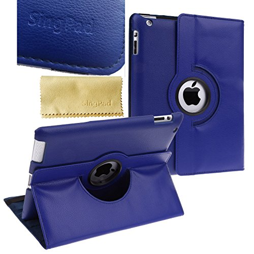 otating Stand Smart Cover PU Leather Case Apple New iPad 4 & 3 (3rd and 4th Generation with Retina Display)/IPad 2- Wake/sleep Function (Royal Blue) (Rotating Smart Cover)