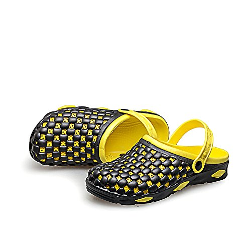 Eastlion Men's Breathable Summer Clogs Garden Slippers Beach Sandals Yellow 8cjYI7eYJE