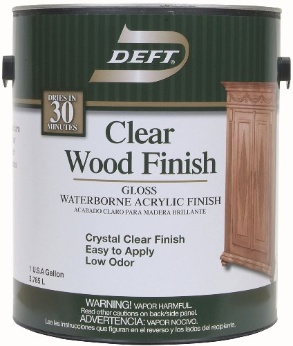 Deft 107-01 Clear Wood Finish Waterborne Acrylic Finish Gloss, 1-Gallon ()