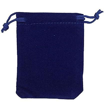 ULTNICE 9 * 12cm terciopelo lazo regalo boda Favor dulces bolsas - 50pcs (azul oscuro)