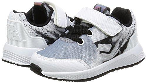 adidas Star Wars El I, Sneakers Basses Mixte Enfant, Noir (Negbas/Gris/Ftwbla), 23.5 EU