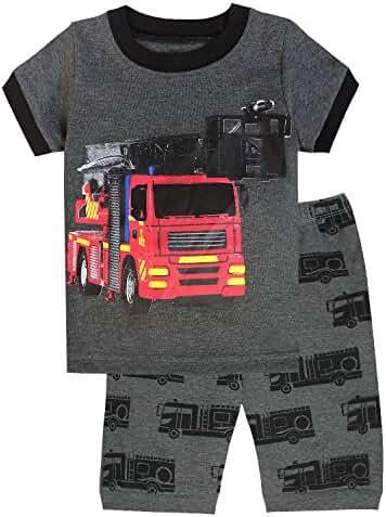 IF Pajamas Excavator Little Boys' Shorts Pajamas Set 100% Cotton Clothes