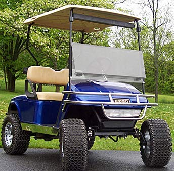 Buggies Unlimited EZGO TXT Clear Fold Down Windshield (Fits 1994.5-2013) by Buggies Unlimited