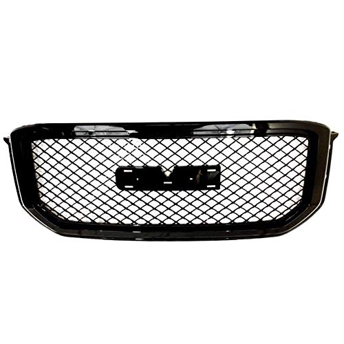 AA Products Luxury Sport Mesh Grille Compatible GMC Yukon/XL/Denali 2015 up to 2019 Front Hood Bumper Grill Grille with Emblem Base Gloss Black ()
