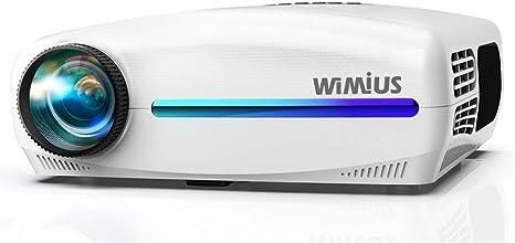 Proyector, WiMiUS Video Proyector Full HD 1920x1080P Proyector de Cine en Casa, Soporta 4K Pantalla 300