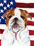 Caroline's Treasures SS4046CHF USA American Flag with Bulldog English Flag Canvas, Large, Multicolor Review