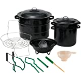 Granite Ware 0719-1 12-Piece Enamel on Steel Canning Kit with Blancher