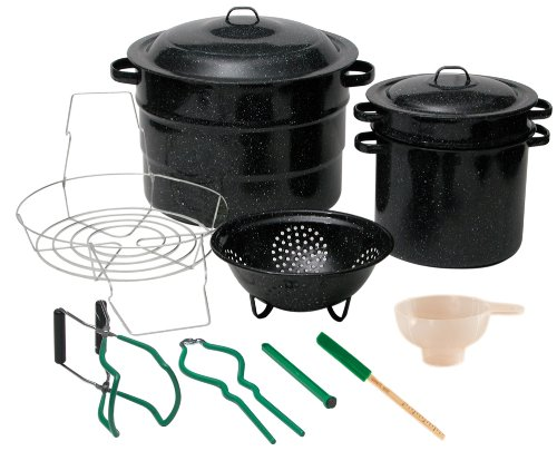Granite Ware Enamel-on-Steel Canning Kit with Blancher, 12-Piece Enamel Water
