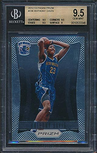Anthony Davis Rookie Card 2012-13 Panini Past Present Treads #23 Hornets BGS 9.5 Graded Card