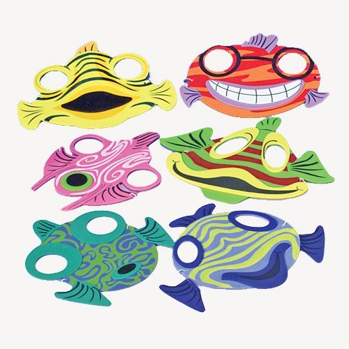 US Toy Fish Animal Foam Masks (12 Piece) (Fish For Kids)
