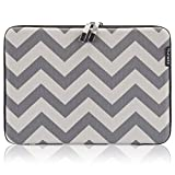 "Runetz - 13-inch Chevron Gray Hard Sleeve Case Cover for MacBook Pro 13.3"" with or w/out Retina Display and MacBook Air 13"" Laptop Gabbro Collection - Chevron Gray"