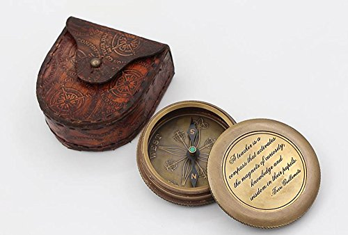 Teacher Appreciation And Insprational Gift Brass Compass w/ case