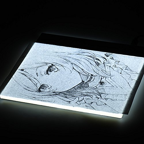Aibecy Portable A5 LED Light Box Drawing Tracing Tracer Copy Board Table Pad Panel Copyboard with Stepless Brightness Control USB Cable for Artist Animation Sketching Architecture Calligraphy by Aibecy