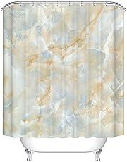 X de laboratorio mármol – Cortina de ducha (antimoho para impermeable Incluye 12 anillos de