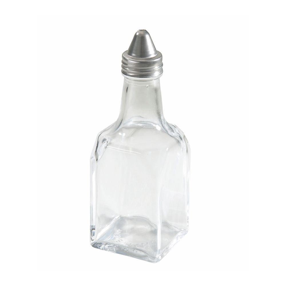 Winco G-104 6 Oz. Oil / Vinegar Cruet with Cone Top - Dozen