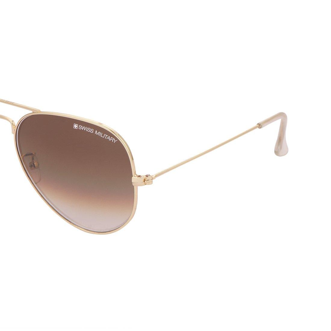 1fc7a7ccd4 Swiss Military UV Protected Aviator Unisex Sunglasses - (SUN4